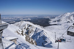 The view of Tatra mountains and landscape from the Royalty Free Stock Images