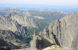 View of tatra mountains from Lomnicky stit Royalty Free Stock Photos