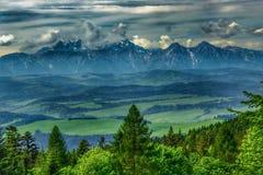 Landscape of Tatra mountains range stock photos