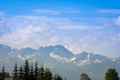 View of Tatra Mountains in summer stock photos