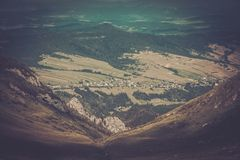 View from Tatras mountains royalty free stock photography