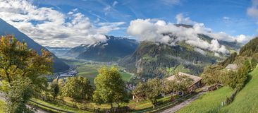 View into the Tauferer Valley Stock Photos