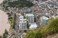 View of Tauranga from mount Maunganui Stock Image