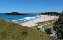 View of Tauranga from Mount Maunganui in New Zealand royalty free stock photos