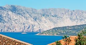View of Tavolara and Molara. On a sunny day Stock Photo