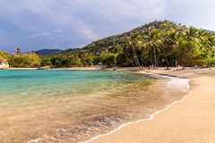 A view in Tayrona National Park in Colombia royalty free stock image