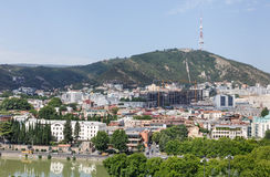 View of Tbilisi, capital of Georgia country Stock Photos