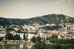 View of Tbilisi, capital of Georgia country Royalty Free Stock Images