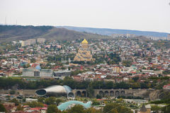 View of the Tbilisi City, Georgia Royalty Free Stock Photography
