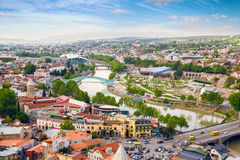 View of Tbilisi city panorama, Georgia. Royalty Free Stock Image