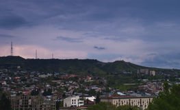 View of Tbilisi, evening Stock Photography