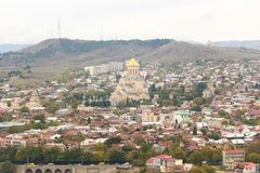 View of the Tbilisi, Georgia. View of the Tbilisi - ancient city and the capital of Georgia, retro style Stock Photo