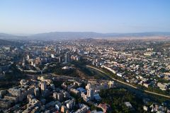 View of Tbilisi from a height. Stock Photos