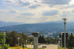 View Tbilisi from memorial Royalty Free Stock Photography
