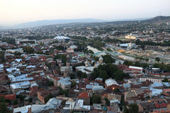 View of Tbilisi from Mtatsminda hill Stock Image