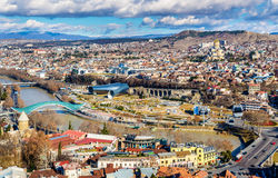 View of Tbilisi from Narikala Fortress Stock Photos