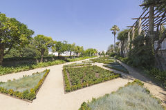 View of Teatre Grec garden, in Barcelona Spain Stock Images