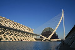 View of Technical Museum in the City of Arts and S. Ciences , designed by Calatrava in Valencia Stock Images