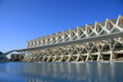View of Technical Museum in the City of Arts and S. Ciences , designed by Calatrava in Valencia Royalty Free Stock Image