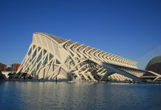 View of technical museum in Valencia. View of City of Arts and Sciences  in Valencia, Spain. L'Oceanogrà is the largest complex of its type in all of Europe Stock Photo