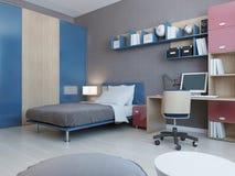 View of teenagers bedroom Stock Photos