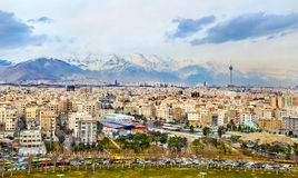 View of Tehran from the Azadi Tower Royalty Free Stock Photography