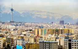 View of Tehran from the Azadi Tower Royalty Free Stock Photos