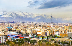 View of Tehran from the Azadi Tower Stock Image