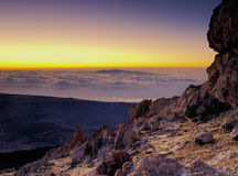 View from Teide Stock Image