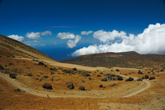 A view of the `Teide Eggs` at Teide National Park in Tenerife, Spain royalty free stock image