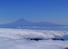 View of Teide from Mount of Garajonay on Gomera Stock Photography