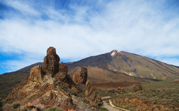 View of Teide National Park Stock Photography