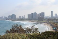 The view of Tel-Aviv stock photography