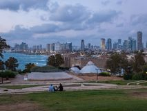 View of Tel Aviv from Old Jaffa, Israel royalty free stock photos