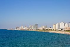 View of Tel Aviv sea side Stock Photos