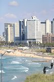 View of Tel Aviv. From the seaside embankment stock images