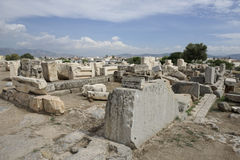View of Telesterion, ancient Eleusis Stock Photography