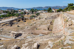 View of Telesterion, ancient Eleusis, Attica, Greece royalty free stock photos