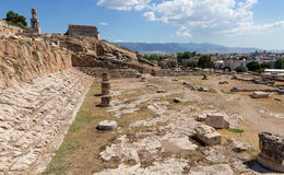 View of Telesterion, ancient Eleusis, Attica, Greece royalty free stock photography