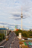 View of a television tower Stock Photography