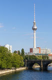 View of a television tower, Berlin Royalty Free Stock Photos