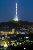 View of the television tower in Lvov Royalty Free Stock Photo