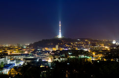 View of the television tower in Lvov Stock Photography
