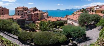 View from Tellaro. View from the Tellaro village, Italy Stock Photo