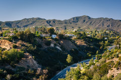 View of the Temescal Canyon in Pacific Palisades, California. View of the Temescal Canyon in Pacific Palisades, California royalty free stock photography