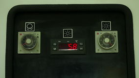 View of temperature indicator on panel Stock Images