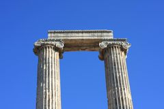 A view of  Temple of Apollo Royalty Free Stock Image
