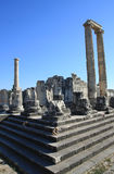 A view of  Temple of Apollo, Turkey. Royalty Free Stock Photos