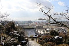 The view from Temple around Hizen-Yamaguchi station, Japan. stock images
