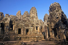 View of the temple of Bayon Royalty Free Stock Images